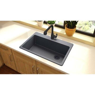 Quartz Classic 33 x 22 Top Mount Kitchen Sink Finish: Dusk Gray
