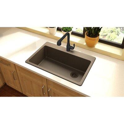 Quartz Classic 33 x 22 Top Mount Kitchen Sink Finish: Mocha