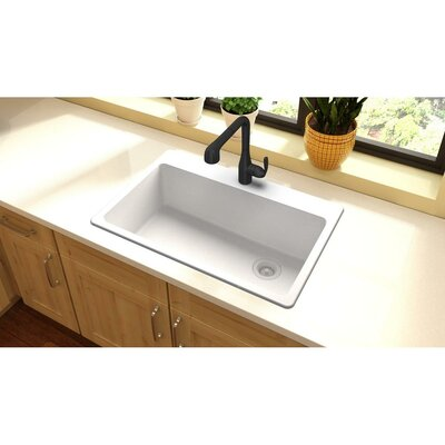Quartz Classic 33 x 22 Top Mount Kitchen Sink Finish: White