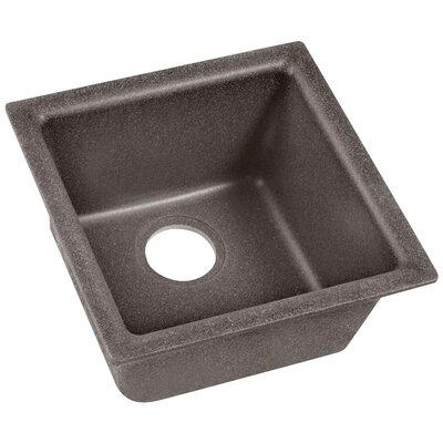 Quartz Classic 15.75 x 15.75 Dual Mount Bar Sink Finish: Slate