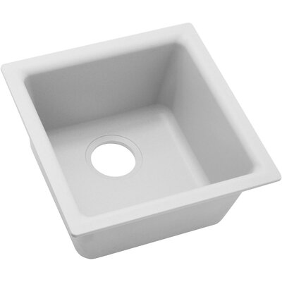 Quartz Classic 15.75 x 15.75 Dual Mount Bar Sink Finish: White