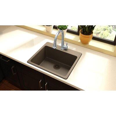 Quartz Classic 25 x 22 Top Mount Kitchen Sink Finish: Mocha