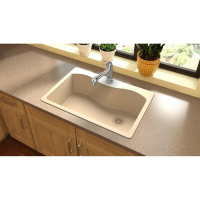 Quartz Classic 33 x 22 Drop-In Kitchen Sink Finish: Sand