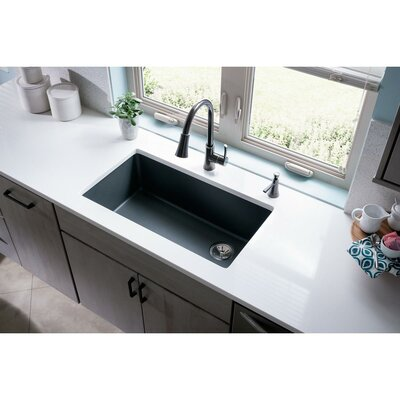 Quartz Classic 33 x 19 Undermount Kitchen Sink Finish: Dusk Gray