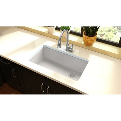 Quartz Classic 33 x 19 Undermount Kitchen Sink Finish: White