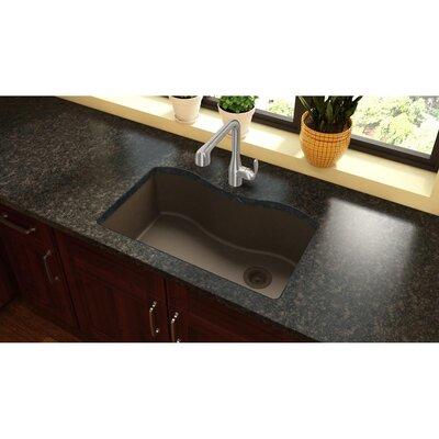 Quartz Classic 33 x 22 Drop-In Kitchen Sink Finish: Mocha