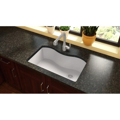 Quartz Classic 33 x 22 Drop-In Kitchen Sink Finish: White