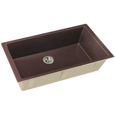 Quartz Luxe 36 x 19 Undermount Kitchen Sink Finish: Chestnut