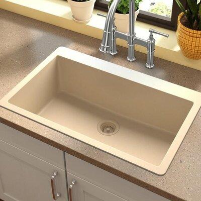 Quartz Classic 30.25 x 16.3 Top Mount Kitchen Sink Finish: Sand