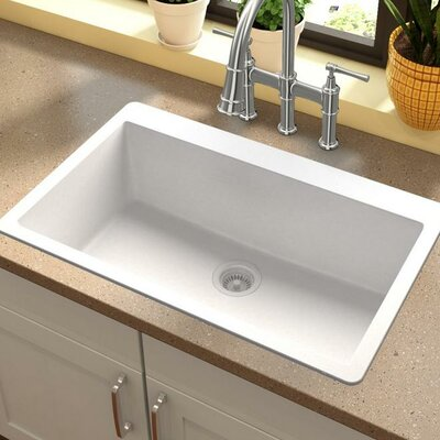 Quartz Classic 30.25 x 16.3 Top Mount Kitchen Sink Finish: White