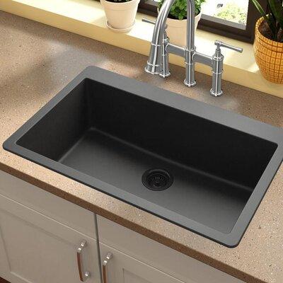 Quartz Classic 30.25 x 16.3 Top Mount Kitchen Sink Finish: Black