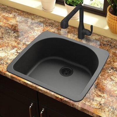 Quartz Classic 33 x 18.75 Drop-In Kitchen Sink Finish: Black
