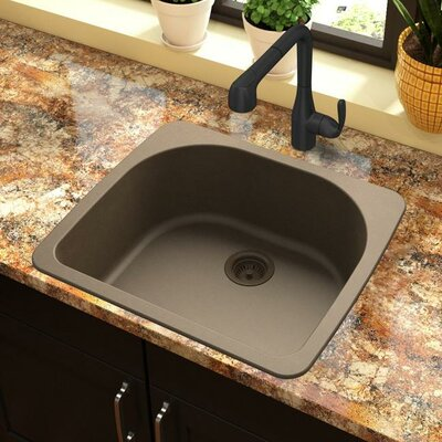 Quartz Classic 33 x 18.75 Drop-In Kitchen Sink Finish: Mocha