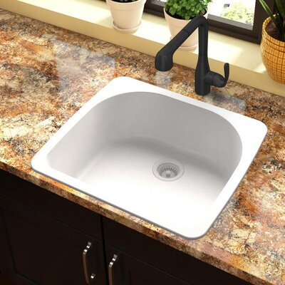 Quartz Classic 33 x 18.75 Drop-In Kitchen Sink Finish: White