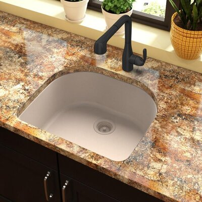 Quartz Classic 25 x 22 Undermount Kitchen Sink Finish: Putty
