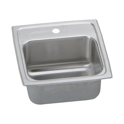 Gourmet 15x 15 Drop-In Bar Sink Faucet Drillings: 1 Hole