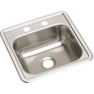 Dayton 15 x 15 Drop-In Bar Sink Faucet Drillings: 2 Holes