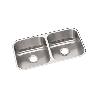 Dayton 32 x 18 Double Basin Undermount Kitchen Sink