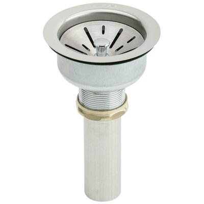 1.5 Pop-Up Kitchen Sink Drain Finish: Stainless Steel