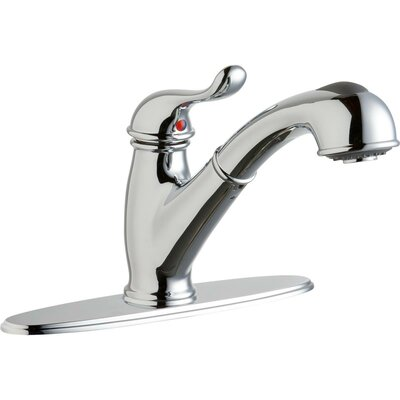 Pull Out Single Handle Kitchen Faucet Finish: Chrome
