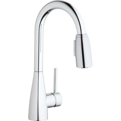 Avado Pull Down Single Handle Kitchen Faucet Finish: Chrome