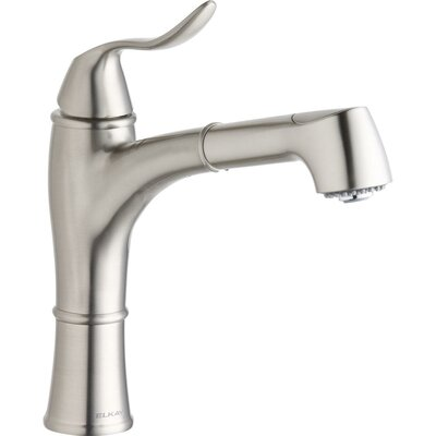 Explore Pull Out Single Handle Kitchen Faucet Finish: Brushed Nickel