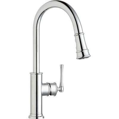 Explore Pull Down Single Handle Kitchen Faucet Finish: Chrome