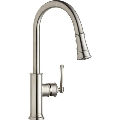 Explore Pull Down Single Handle Kitchen Faucet Finish: Lustrous Steel