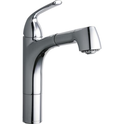Gourmet Pull Out Single Handle Kitchen Faucet Finish: Chrome