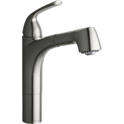 Gourmet Pull Out Single Handle Kitchen Faucet Finish: Brushed Nickel