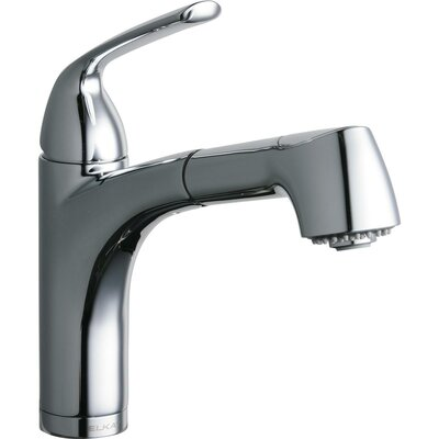 Gourmet Single Handle Pull Out Bar Faucet Finish: Chrome