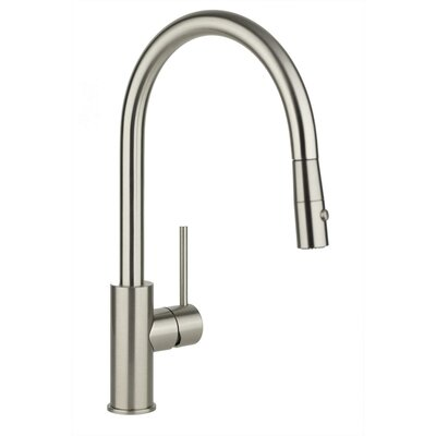 Harmony Pull Down Single Handle Kitchen Faucet Finish: Brushed Nickel