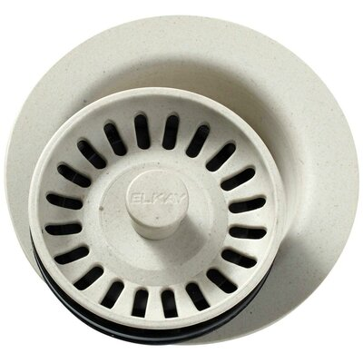 Polymer Disposer Flange with Removable Basket Strainer and Rubber Stopper Finish: Bisque