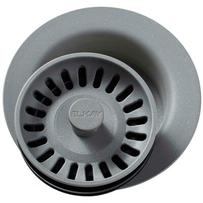 Polymer Disposer Flange with Removable Basket Strainer and Rubber Stopper Finish: Graystone