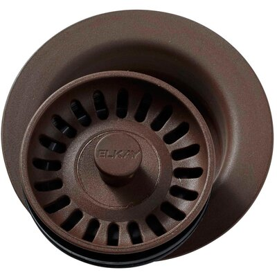 Polymer Disposer Flange with Removable Basket Strainer and Rubber Stopper Finish: Pecan