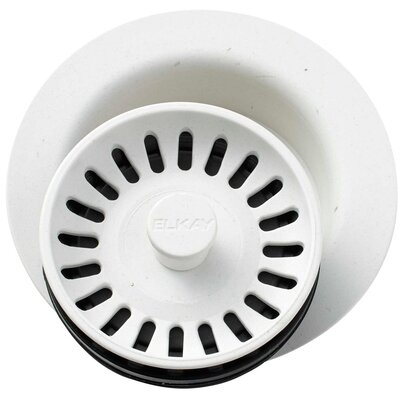 Polymer Disposer Flange with Removable Basket Strainer and Rubber Stopper Finish: Ricotta