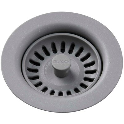 Polymer Drain Fitting with Removable Basket Strainer and Rubber Stopper Finish: Graystone