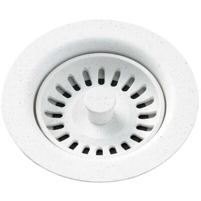 Polymer Drain Fitting with Removable Basket Strainer and Rubber Stopper Finish: White
