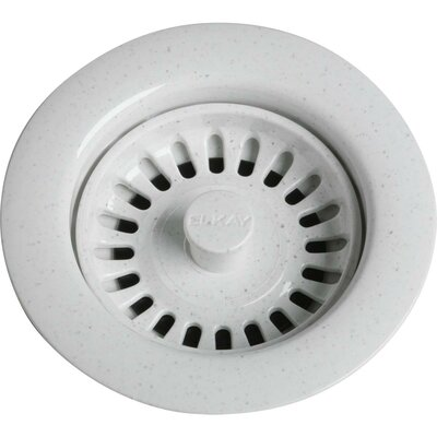 3.5 Pop-Up Kitchen Sink Drain Finish: White