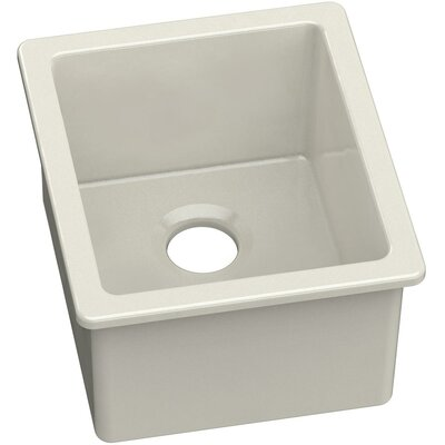 19 x 16 Undermount Bar Sink Finish: Biscuit