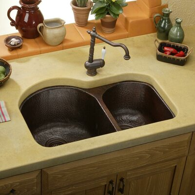 31 x 20 Double Basin Undermount Kitchen Sink