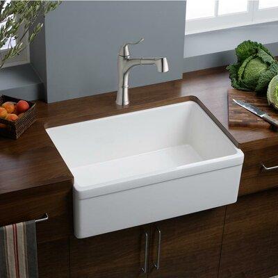 30 x 20 Undermount Kitchen Sink Finish: White (Gloss)