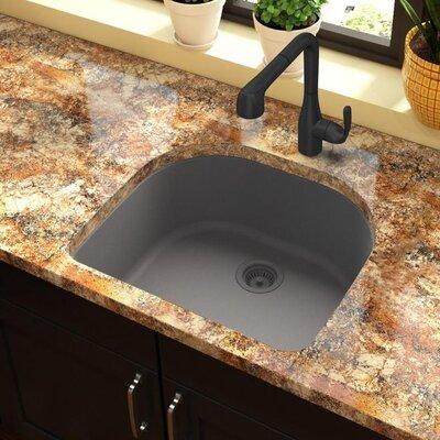 Quartz Classic 25 x 22 Undermount Kitchen Sink Finish: Greystone