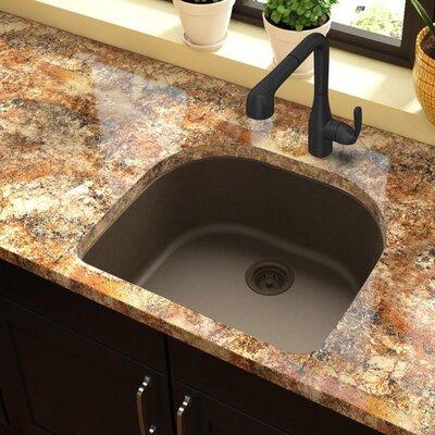 Quartz Classic 25 x 22 Undermount Kitchen Sink Finish: Mocha