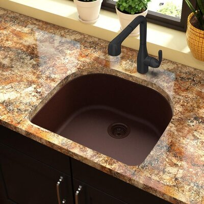 Quartz Classic 25 x 22 Undermount Kitchen Sink Finish: Pecan