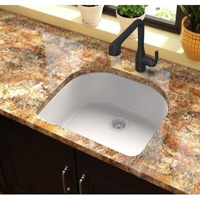 Quartz Classic 25 x 22 Undermount Kitchen Sink Finish: White