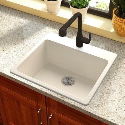Quartz Luxe 25 x 22 Drp-In Kitchen Sink Finish: Ricotta