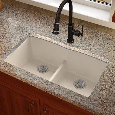 Quartz Luxe 33 x 19 Double Basin Undermount Kitchen Sink Finish: Ricotta
