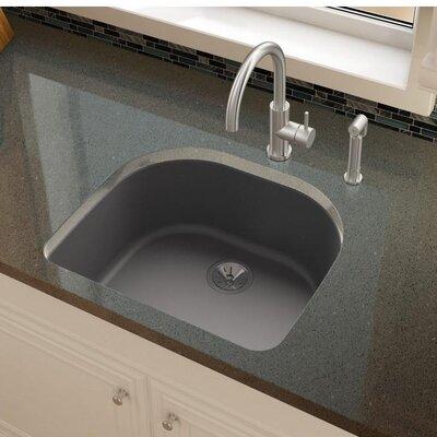 Quartz Luxe 25 x 22 Undermount Kitchen Sink Finish: Charcoal