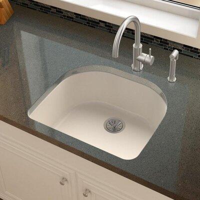 Quartz Luxe 25 x 22 Undermount Kitchen Sink Finish: Ricotta